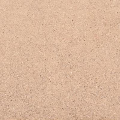 vidaXL MDF platen rechthoekig 120x60 cm 2,5 mm 10 st
