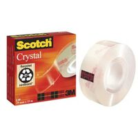 Scotch Plakband Crystal ft 19 mm x 33 m, doos met 1 rolletje