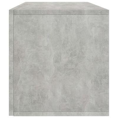 vidaXL Opbergbox voor LP's 71x34x36 cm spaanplaat betongrijs