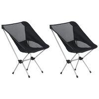 vidaXL Campingstoelen 2 st met draagtas 54x50x65 cm aluminium