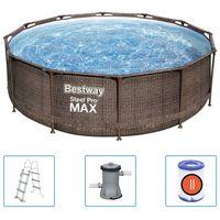 Bestway Steel Pro MAX Zwembadset Deluxe Series rond 366x100 cm