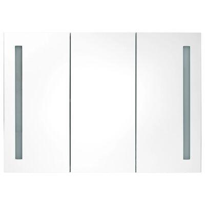 vidaXL Badkamerkast met spiegel en LED 89x14x62 cm