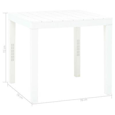 vidaXL Tuintafel met 2 banken kunststof wit
