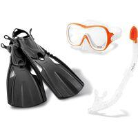 Intex snorkelset Wave Rider zwart/geel 4-delig