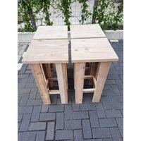 KSM-steigerhout - 4 stuks Barkruk Easy van Gebruikt steigerhout