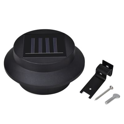 vidaXL Schuttinglampen 12 st solar LED zwart