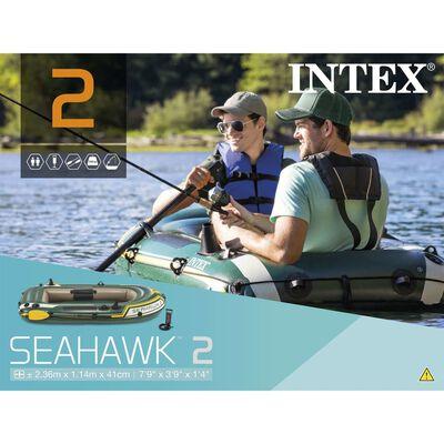 Intex Seahawk 2 Opblaasboot met roeispanen en pomp 68347NP