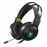 V5000 gaming-headset met groene LED - USB