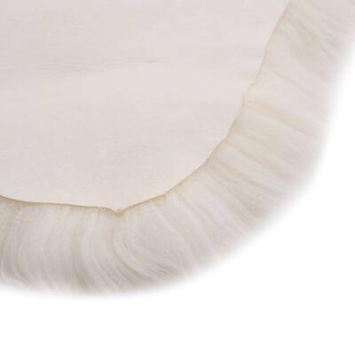 vidaXL Vloerkleed 60x180 cm schapenvacht wit