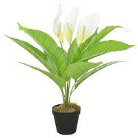vidaXL Kunstplant met pot Anthurium 55 cm wit