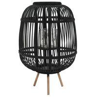 vidaXL Lantaarnhouder vrijstaand bamboe zwart