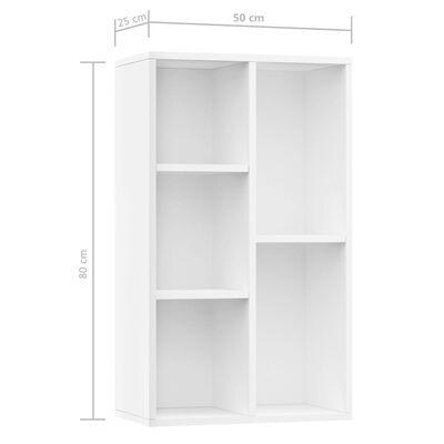 vidaXL Boekenkast/dressoir 50x25x80 cm spaanplaat wit