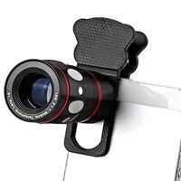 Universele mobiele lens 4-in-1 telefoto / groothoek / fisheye / macro