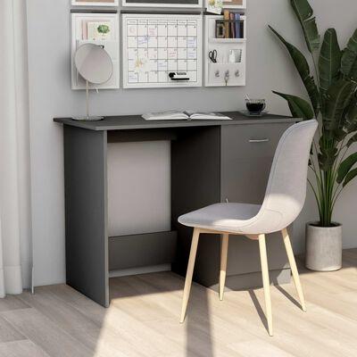 vidaXL Bureau 100x50x76 cm spaanplaat grijs
