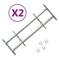 vidaXL Raambeveiligingen verstelbaar 2 st 700-1050 mm