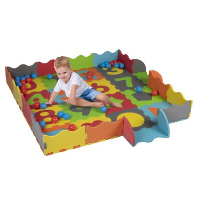 Let's Play Speelset - Speelmat, Puzzel en Ballenbak - 40 Ballen