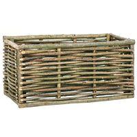 vidaXL Plantenbak verhoogd 80x40x40 cm hazelaarhout