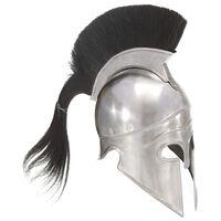 vidaXL Soldatenhelm Grieks replica LARP staal zilverkleurig