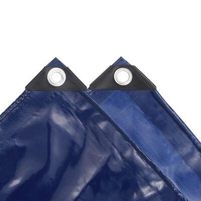 vidaXL Dekzeil 650 g/m² 1,5x20 m blauw