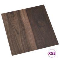 vidaXL Vloerplanken zelfklevend 55 st 5,11 m² PVC donkerbruin