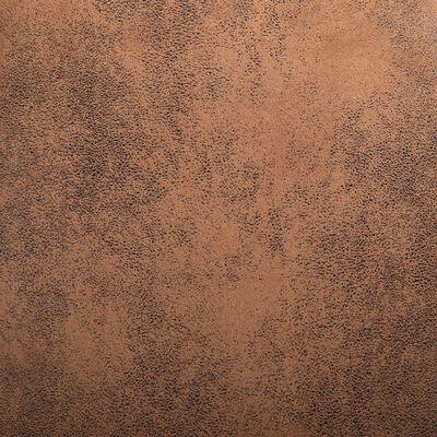 vidaXL Eetkamerstoelen 6 st kunstsuède bruin
