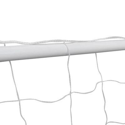 vidaXL Voetbalgoals 2 st 240x90x150 cm staal