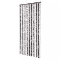 vidaXL Vliegengordijn 90x220 cm chenille grijs en wit