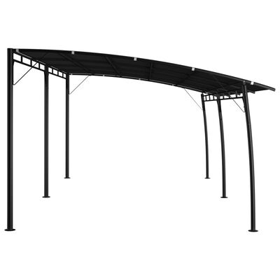 vidaXL Zonneluifel 6x3x2,55 m antracietkleurig