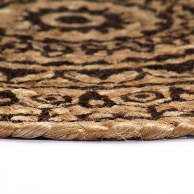 vidaXL Placemats 4 st rond 38 cm jute donkerbruin