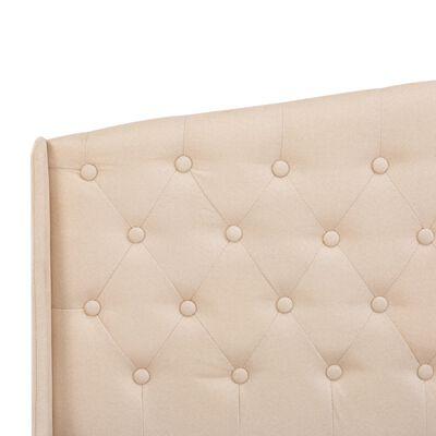 vidaXL Bedframe stof crème 90x200 cm