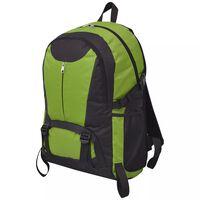vidaXL Hiking rugzak 40 L zwart en groen