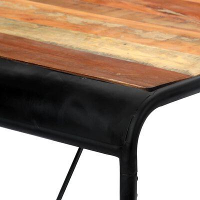 vidaXL Eettafel 118x60x76 cm massief gerecycled hout