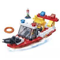 BanBao bouwpakket Rescue Boat 62-delig