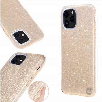 Apple Iphone 12 Pro Max Glitter Goud Siliconen Gel Tpu / Back Cover /,