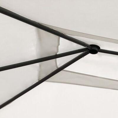 vidaXL Prieel met zijwand 160 g/m² 3x6x2,6 m crèmekleurig, Cream
