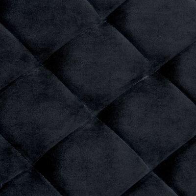 vidaXL Bankje 97 cm fluweel en roestvrij staal zwart, Zwart
