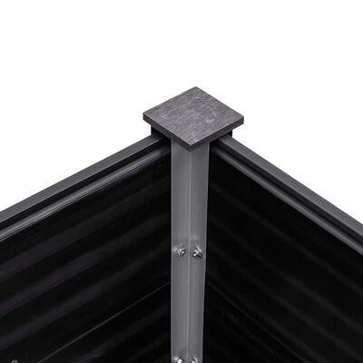 vidaXL Plantenbak verhoogd 300x100x91 cm HKC grijs