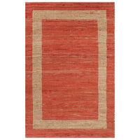 vidaXL Vloerkleed handgemaakt 80x160 cm jute rood