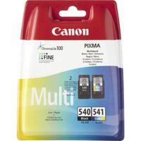 Canon PG-540 / CL-541 Inktcartridge Zwart + 3 kleuren Voordeelbundel
