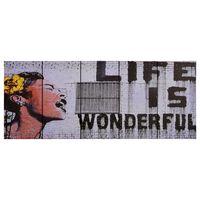 vidaXL Wandprintset wonderful 200x80 cm canvas meerkleurig