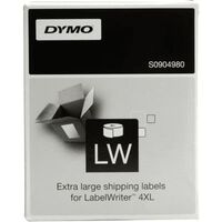 Dymo S0904980 Etiket Zwart op wit (104 mm x 159  mm)