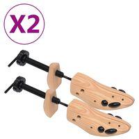 vidaXL Schoenspanners 2 paar maat 36-40 massief grenenhout