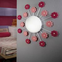 EGLO Muur-/plafondlamp VIKI 1 roze 92147