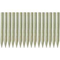 vidaXL Schuttingpalen met punt 16 st 100 cm geïmpregneerd hout