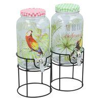 Cuisine Elegance drankdispenser - glas - 3 liter