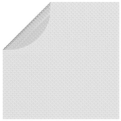 vidaXL Zwembadfolie solar drijvend 210 cm PE grijs
