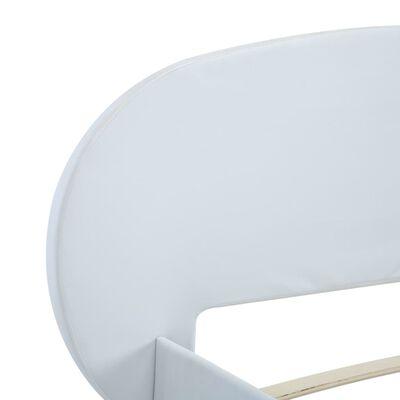 vidaXL Bedframe kunstleer wit 100x200 cm