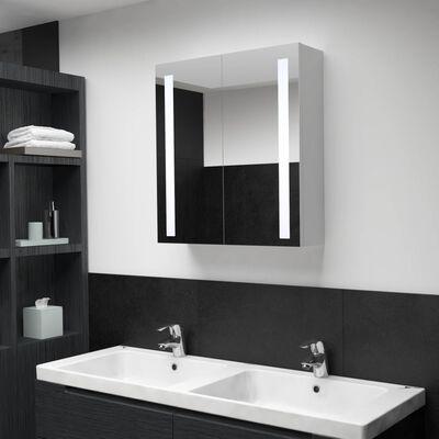vidaXL Badkamerkast met spiegel en LED 60x14x62 cm