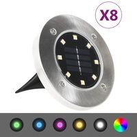 vidaXL Solargrondlampen 8 st LED-lichten RGB-kleur