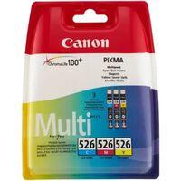 Canon CLI-526C/M/Y Inktcartridge 3-kleuren Voordeelbundel